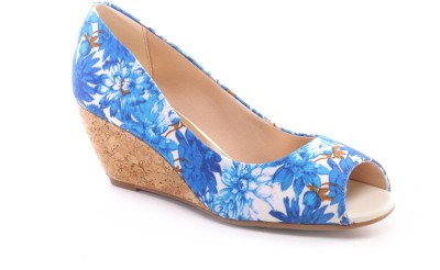 Pavers England Women BLUE Wedges at flipkart