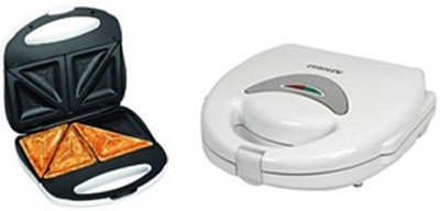 Euroline EL001 Tringle Sandwich Maker Grill(White)