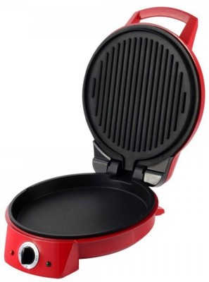 Wonderchef Pizza Italia 1370W Open Grill, Roti Maker, Pizza Pan, Grill, Waffle(Red)  available at flipkart for Rs.3299