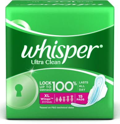 Whisper Ultra Clean XL Wings Sanitary Pad