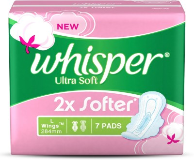 6 off on whisper ultra soft l wings sanitary pad pack of 7 on