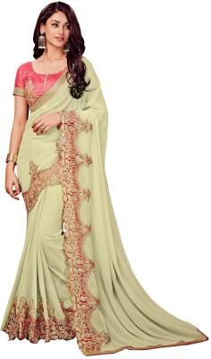 3106777ed0 73% OFF on onlinefayda Embroidered Fashion Georgette Saree(Cream) on  Flipkart | PaisaWapas.com