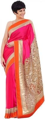 Vivels Embroidered Bollywood Chiffon, Net Saree(Maroon)