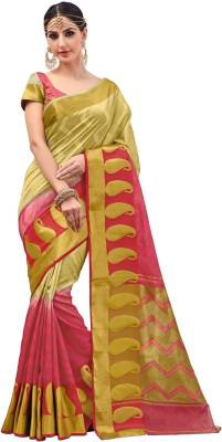 Taanshi Self Design Kanjivaram Tussar Silk Saree