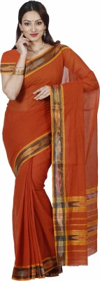 Mimosa Woven Kanjivaram Cotton Saree(Mustard)  available at flipkart for Rs.699