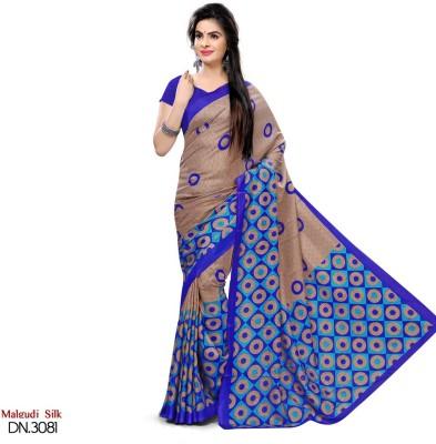 Sunaina Printed Bhagalpuri Art Silk Saree Multicolor