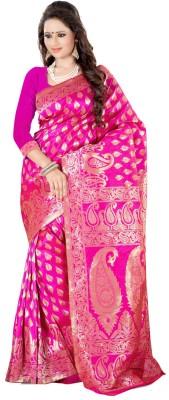 Style U Self Design Bollywood Chiffon Saree(Blue)