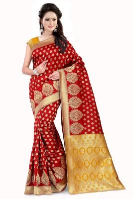 Style U Solid Kanjivaram Cotton Saree(Black)