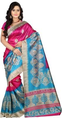 Vastrakala Printed Bollywood Art Silk Saree(Multicolor)  available at flipkart for Rs.440