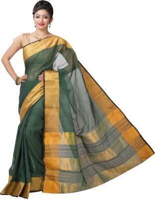 Ishin Printed Fashion Cotton Saree(Green)