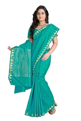 VASTRAKALA Woven Fashion Art Silk Saree Green VASTRAKALA Women\'s Sarees