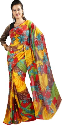 Anushree Saree Self Design Fashion Georgette Saree(Multicolor)