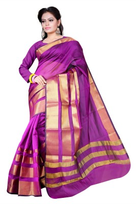 Asavari Embellished Banarasi Handloom Art Silk Saree(Magenta)  available at flipkart for Rs.699