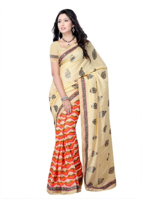 Suvastram Printed Fashion Handloom Georgette Saree(Multicolor)