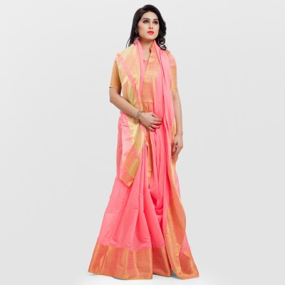 SARNGIN BOUTIQUE Embellished Kanjivaram Poly Silk, Silk Cotton Blend Saree(Multicolor) at flipkart