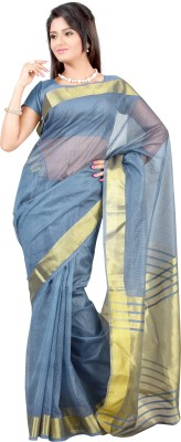 Mimosa Solid Kanjivaram Handloom Net Saree(Grey)  available at flipkart for Rs.749