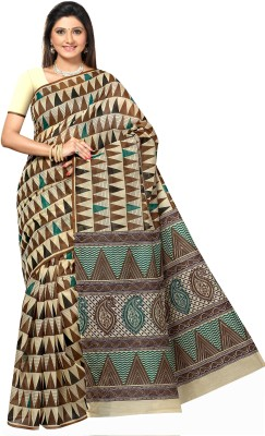 Mrsaree Printed Fashion Handloom Cotton Saree(Multicolor)