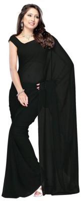 AJS Solid Fashion Georgette Saree(Multicolor)