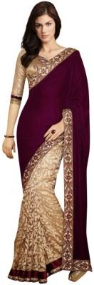 Vihana Embroidered Bollywood Georgette Saree(Maroon)