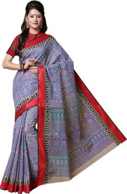 ab3a2f83809e4 M.S.Retail Printed Gadwal Cotton Saree(Purple)