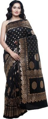 BlackBeauty Self Design Bollywood Art Silk Saree(Gold, Black) at flipkart