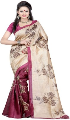 Textilebaba Self Design Daily Wear Handloom Art Silk Saree(Maroon, Beige)  available at flipkart for Rs.489
