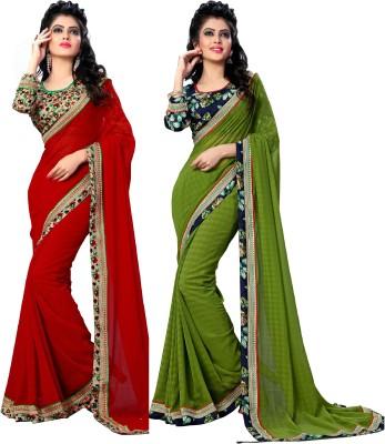 Oomph! Floral Print Fashion Chiffon Saree(Multicolor) Flipkart