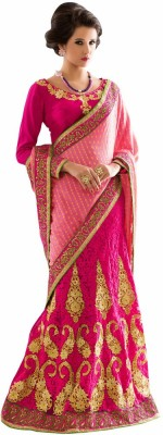 Aasvaa Self Design Lehenga Saree Jacquard Saree(Pink)  available at flipkart for Rs.2019