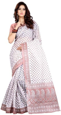 801e3432f7 54% OFF on Roopkala Silks Printed Daily Wear Cotton Saree(White) on  Flipkart | PaisaWapas.com