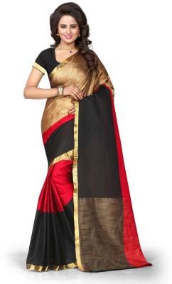Style U Embellished Banarasi Poly Silk Saree(Red)
