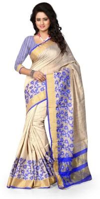 Style U Self Design Bollywood Cotton Saree(Blue)
