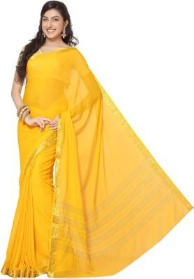 Rani Saahiba Printed Bollywood Chiffon Saree(Yellow)