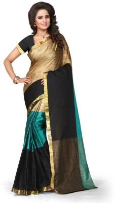 Style U Self Design Chanderi Poly Silk Saree(Red, Beige)