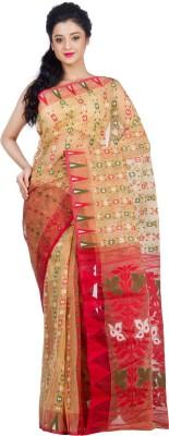 RLBFashion Self Design Jamdani Handloom Cotton, Silk Saree(Multicolor) Flipkart