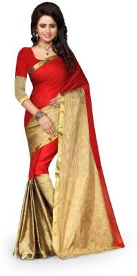 Style U Embellished Banarasi Poly Silk Saree(Green)