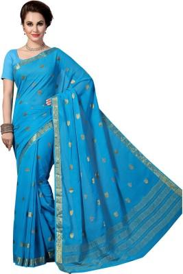 Rani Saahiba Printed Fashion Chiffon Saree(Blue)