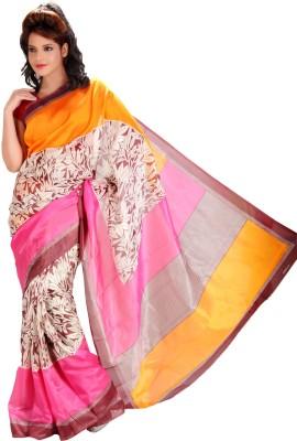 Gugaliya Polka Print, Paisley Bollywood Art Silk Saree(Multicolor)