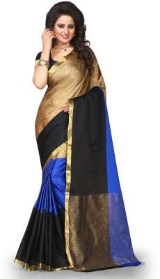 Jhilmil Fashion Self Design Fashion Cotton Blend Saree Multicolor