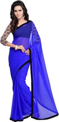 Hari Krishna Enterprise Embroidered Fashion Georgette Saree(Blue)  available at flipkart for Rs.474