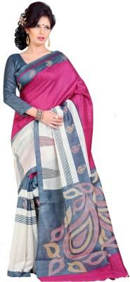 Gugaliya Printed Bollywood Art Silk Saree(Beige, Grey, Maroon)  available at flipkart for Rs.472