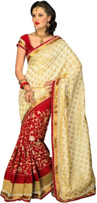 Chirag Sarees Self Design Banarasi Art Silk Sari