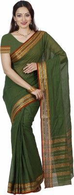 Mimosa Woven Kanjivaram Cotton Saree(Light Green)  available at flipkart for Rs.699