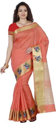 Mimosa Self Design Kanjivaram Tussar Silk Saree