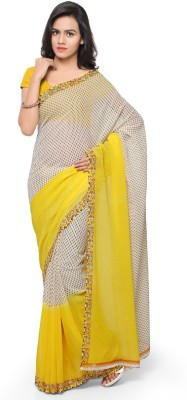 Anand Sarees Printed Daily Wear Georgette Saree(Yellow)