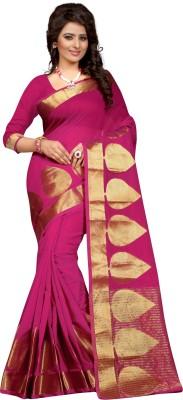 Style U Self Design Bollywood Polycotton Saree(Dark Blue)