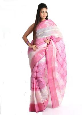 fdf65a08dc 45% OFF on Purabi Woven Tangail Handloom Cotton Saree(Pink) on Flipkart |  PaisaWapas.com