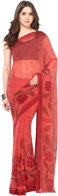 Fostelo Self Design Daily Wear Chiffon Saree(Red)  available at flipkart for Rs.199
