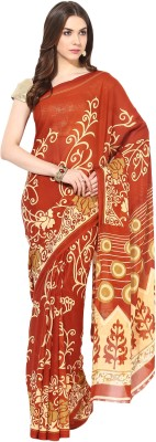 Fostelo Self Design Daily Wear Chiffon Saree(Orange)  available at flipkart for Rs.199