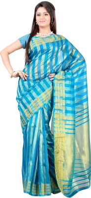 Mimosa Woven Kanjivaram Handloom Net Saree(Blue)  available at flipkart for Rs.749