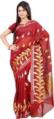 Mimosa Woven Kanjivaram Handloom Art Silk Saree(Maroon)  available at flipkart for Rs.999